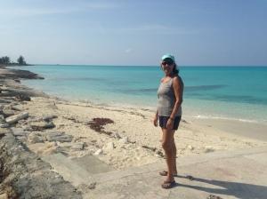 Deb on Hawks Nest Beach